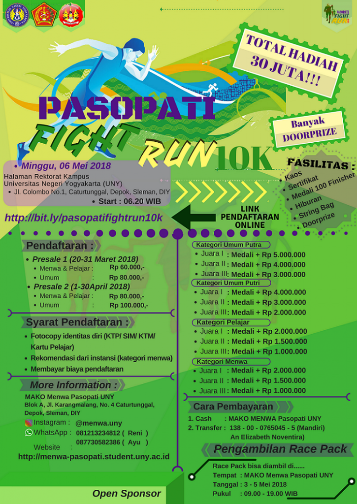 Pasopati Fight Run 10K - Menwa Pasopati UNY